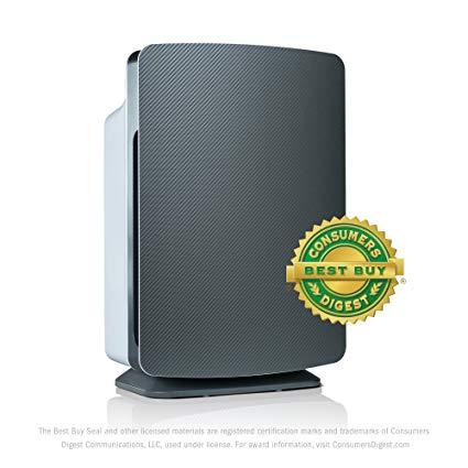 Alen BreatheSmart Classic Allergen-Reducing Air Purifier with HEPA Filter for Pet and Diaper Odors, 1100 SqFt; Carbon Fiber